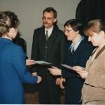 Pierwsze dyplomy na Wydziale Pedagogicznym - luty 1998