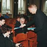 Podczas wizyty prof. Svena Hollensena